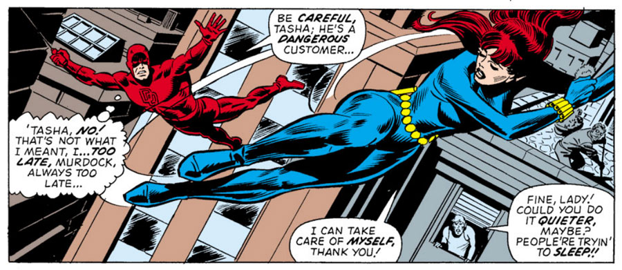 Daredevil and the Black Widow, from Daredevil #102