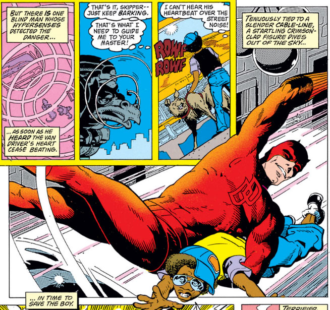 Panel from Marvel Fanfare #7, by Bill Mantlo and George Freeman