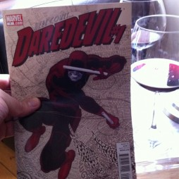 Ian Mayor went the sophisticated route and had red wine with his Daredevil