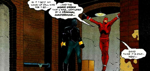 Panel featuring Daredevil and the Eel from Daredevil #354, by Karl Kesel and Cary Nord