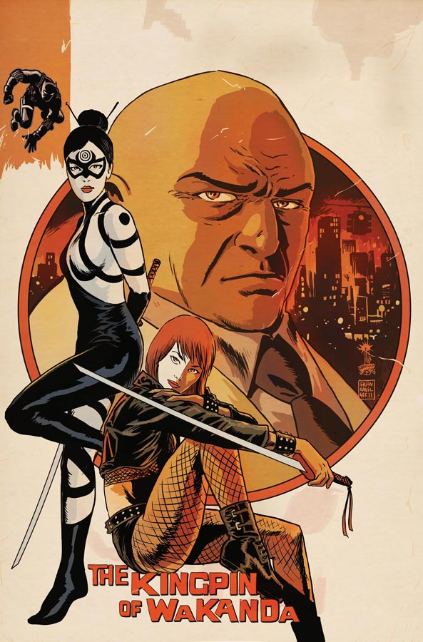 Preview art of Lady Bullseye, Typhoid Mary and the Kingpin