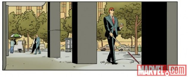 Matt Murdock with a cane that looks like it's supposed to