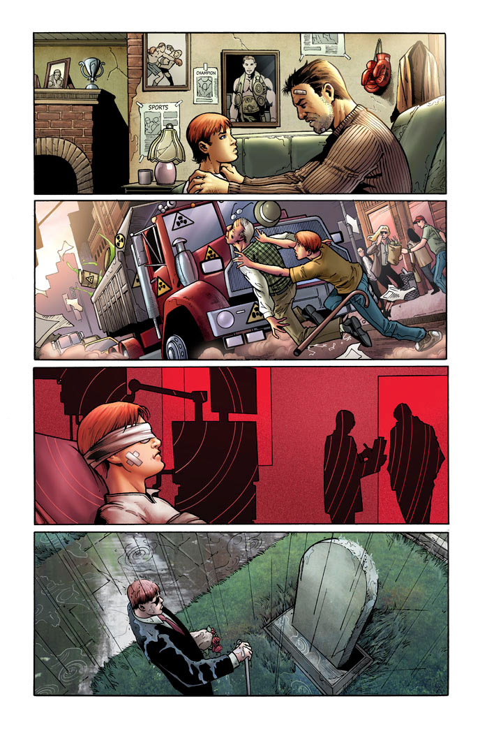 First preview page from Daredevil: Season One, by Antony Johnston and Wellinton Alves