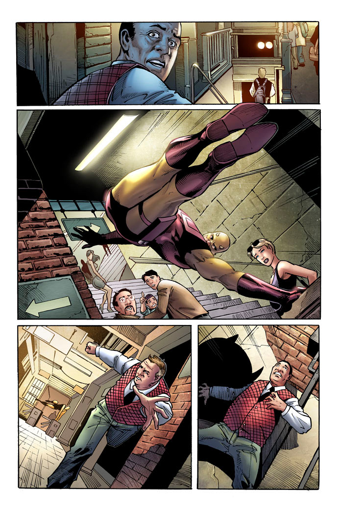 Second preview page from Daredevil: Season One, by Antony Johnston and Wellinton Alves