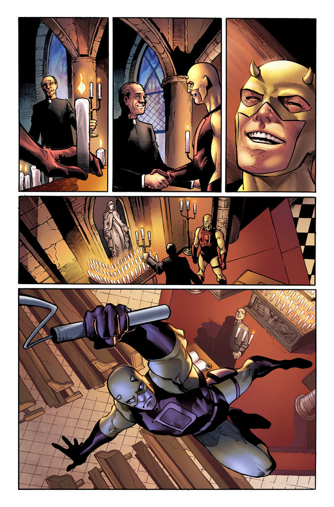Third preview page from Daredevil: Season One, by Antony Johnston and Wellinton Alves