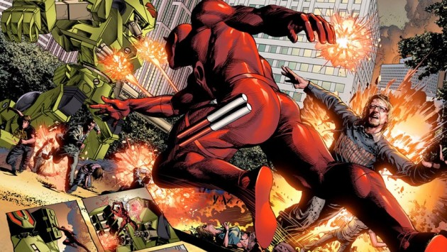 New Avengers #16 preview art featuring Daredevil, by Mike Deodato