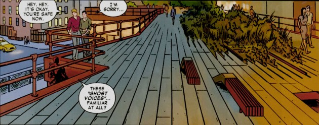 Daredevil speaks to fellow attorney Gene Loren, panel from Daredevil #2 by Mark Waid and Paolo Rivera