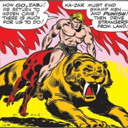 Daredevil and the big cats who attack him