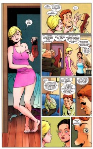 Foggy find a new girlfriend, page from Daredevil #5 by Mark Waid and Marcos Martín