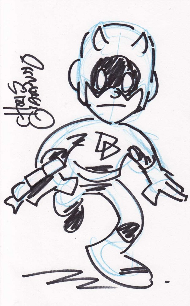 DD sketch by Chris Giarrusso