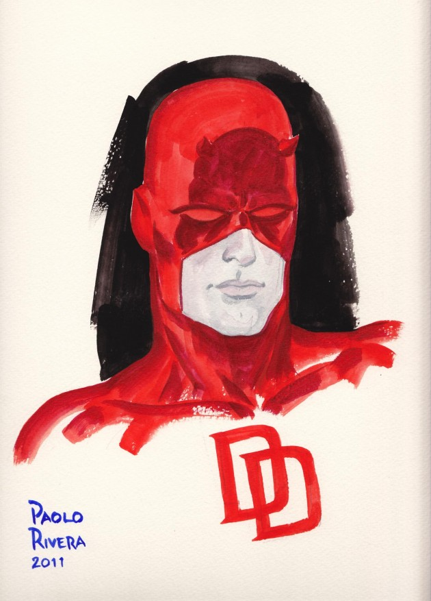 Daredevil painting by Paolo Rivera