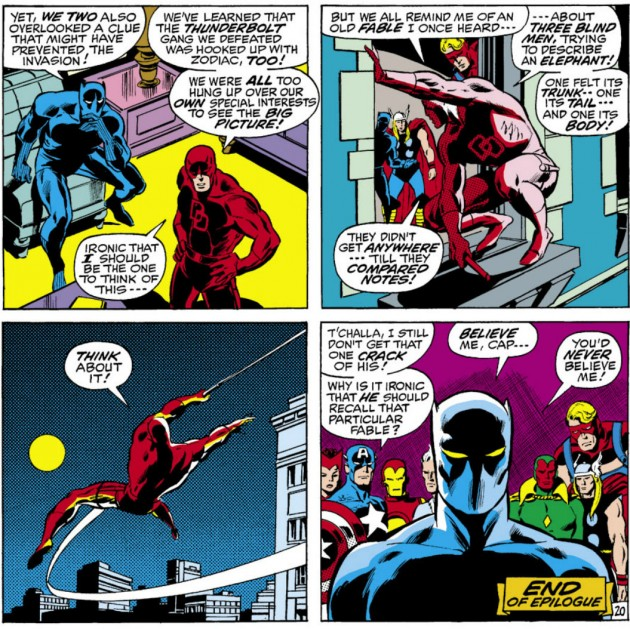 Daredevil gives the Avengers something to ponder, from Avengers #82