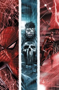 Cover to April's issue of The Punisher, by Marco Checchetto