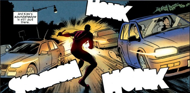 Daredevil versus the traffic, from Daredevil #3