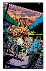Page one, unlettered, from Daredevil #12 by Chris Samnee, colors by Javier Rodriguez