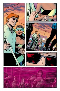 Page two, unlettered, from Daredevil #12 by Chris Samnee, colors by Javier Rodriguez
