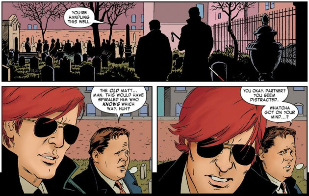 Foggy and Matt talk, from Daredevil #10, by Mark Waid and Paolo Rivera