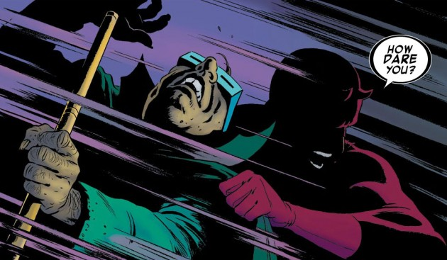 Matt loses control with the Mole Man, from Daredevil #9, by Mark Waid and Paolo Rivera