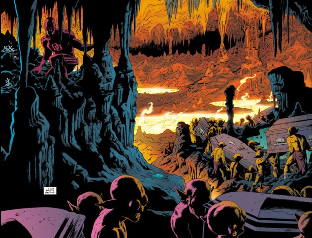 Two-page spread from Daredevil #9, by Paolo Rivera
