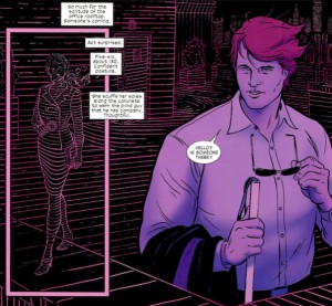 Radar reveals even distant objects, from Daredevil #1, by Mark Waid and Paolo Rivera