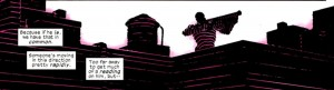 Radar show object near, but nothing from far away, from Daredevil #1, by Mark Waid and Paolo Rivera