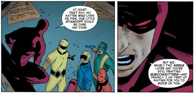 Daredevil confronts the crime organizations, Daredevil #10.1 by Mark Waid and Khoi Pham