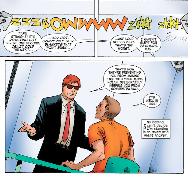 Daredevil talks to a client, Daredevil #10.1 by Mark Waid and Khoi Pham
