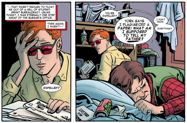 College age Matt and Foggy, from Daredevil #12 by Mark Waid and Chris Samnee