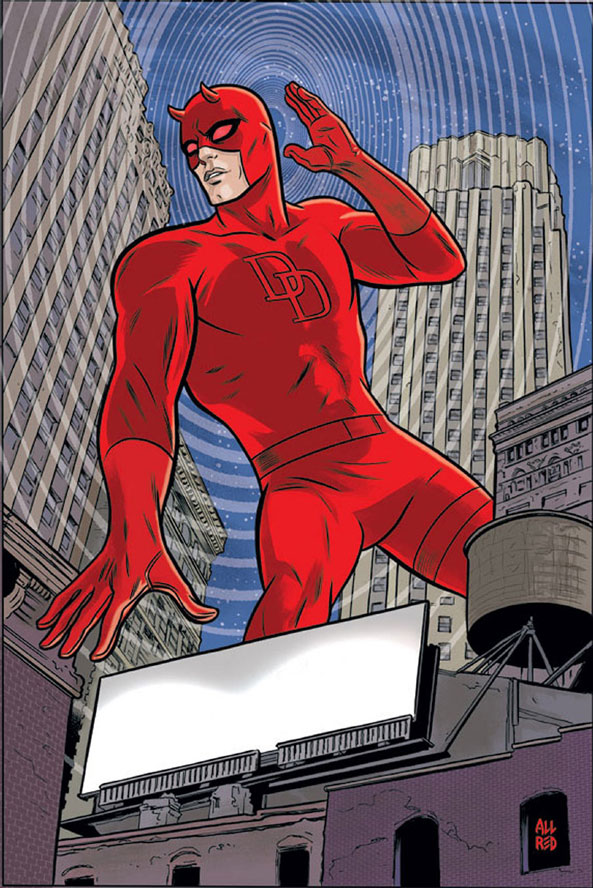 Cover to Daredevil #17, by Mike Allred