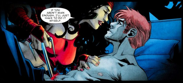 Matt and Elektra, from Daredevil #506, by Diggle, Johnston and Checchetto