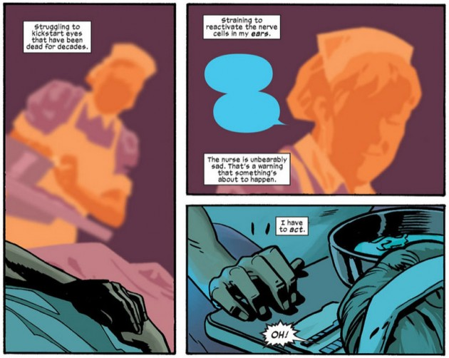 Matt regains his sight, from Daredevil #15 by Mark Waid and Chris Samnee