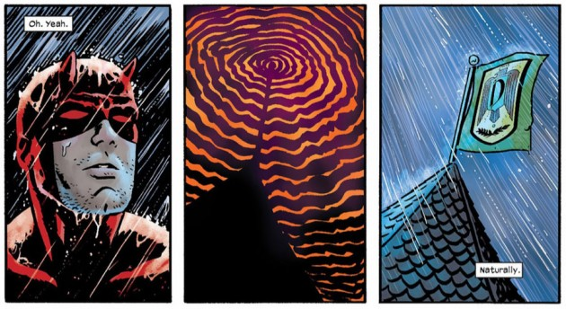Daredevil appears to register radio waves, from Daredevil #15 by Mark Waid and Chris Samnee