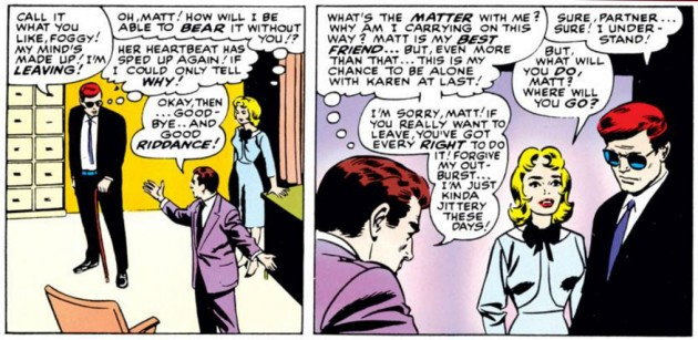 Matt takes a leave of absence, from Daredevil #11, by Stan Lee and Bobby Powell