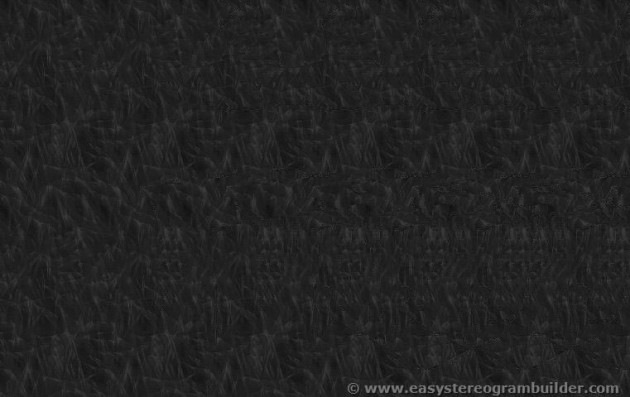 Stereogram image of a chair, table and lamp