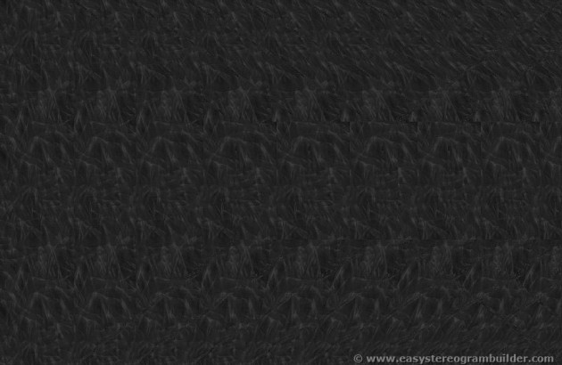Stereogram image of a tunnel