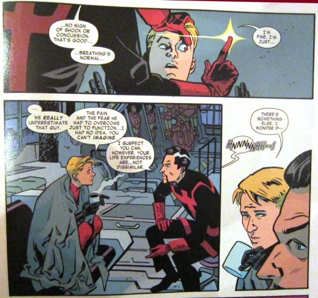 Hank is examined by Doctor Strange, from Daredevil #16, by Mark Waid and Chris Samnee