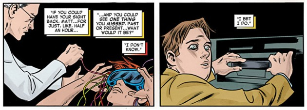 Foggy has a surprise for Matt, from Daredevil #17, by Mark Waid and Mike Allred