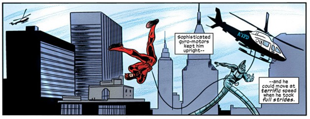 Daredevil and Stilt-Man, from Daredevil #17, by Mark Waid and Mike Allred