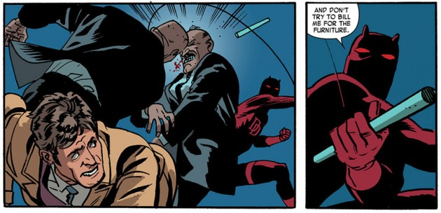 Daredevil in action, from Daredevil #18 by Mark Waid and Chris Samnee