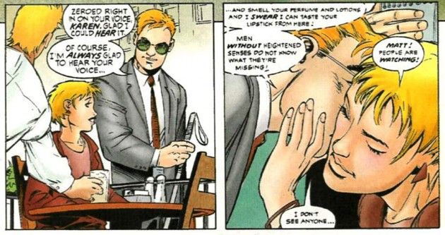 Matt's glasses as seen in Daredevil #354, by Karl Kesel and Cary Nord