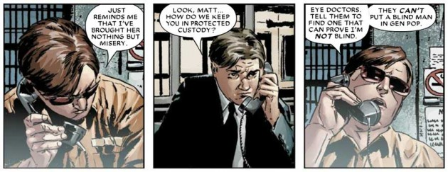 Matt's glasses as seen in Daredevil #82 (vol 2), by Ed Brubaker and Michael Lark
