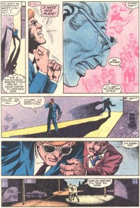 Matt breaks down, from Daredevil #209, by Steven Grant and Geof Isherwood