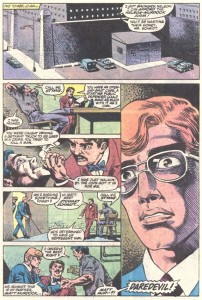 Matt recognizes Stymie, from Daredevil #209, by Steven Grant and Geof Isherwood