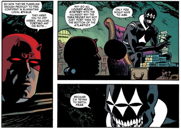 Daredevil talking to the Coyote, from Daredevil #20 by Mark Waid and Chris Samnee