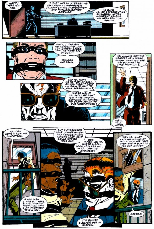 Page from Daredevil #310, by Glenn Alan Herdling and Scott McDaniel