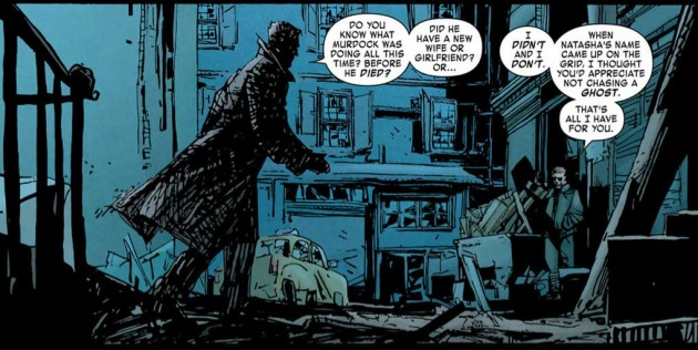 Ben meets with Nick Fury, from Daredevil: End of Days #2 by Brian Michael Bendis, David Mack and Klaus Janson