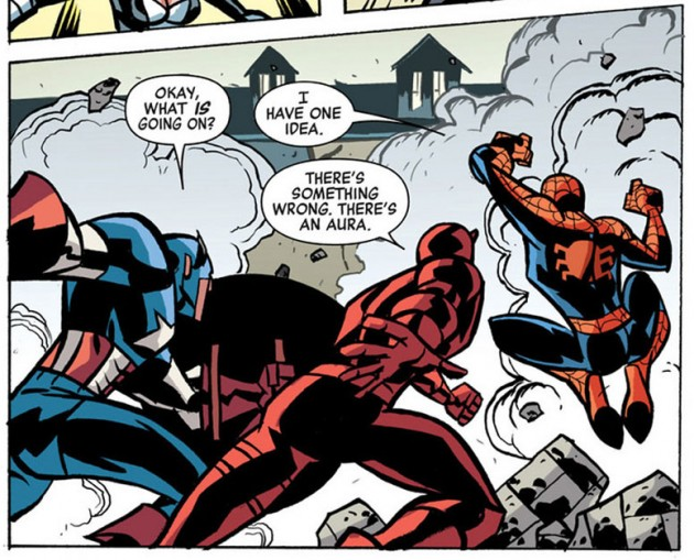 Daredevil gets an aura, from New Avengers #33, by Brian Bendis and Michael Oeming