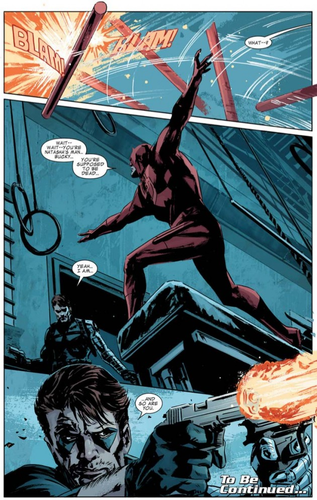 Page from Winter Soldier #12, by Ed Brubaker and Butch Guice