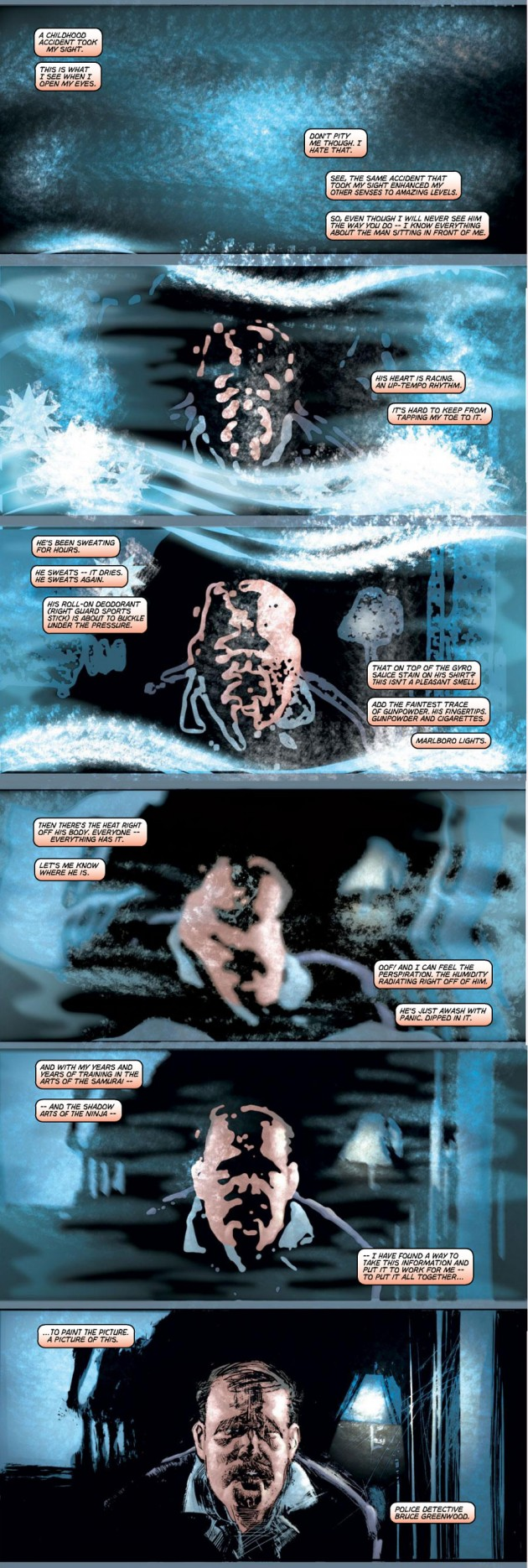 Scene from Ultimate Marvel Team-Up #7 by Brian Bendis and Bill Sienkiewicz