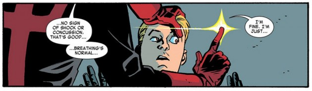 Hank Pym gets an eye exam, from Daredevil #16 by Mark Waid and Chris Samnee
